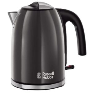 Colours Plus 1.7L Stainless Steel Electric Kettle Russell Hobbs Colour: Grey