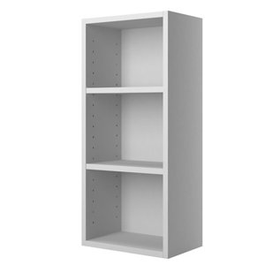 Cooke & Lewis Santini Gloss White Mirrored Single door Wall Cabinet (W)300mm (H)672mm