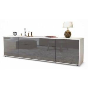 """Coombs TV Stand for TVs up to 42"""" Ebern Designs Colour: High-gloss Grey / Matte White"""