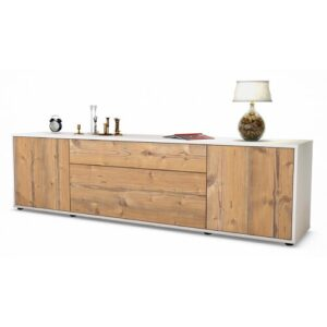 """Coombs TV Stand for TVs up to 42"""" Ebern Designs Colour: Pine / Matte White"""