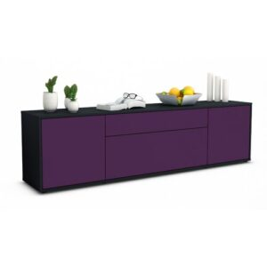 """Coombs TV Stand for TVs up to 42"""" Ebern Designs Colour: Purple / Matte White"""