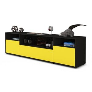 """Coppock TV Stand for TVs up to 42"""" Ebern Designs Colour: Yellow / Matte Anthracite"""