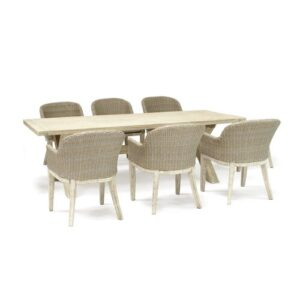 Cora 6 Seater Dining Set with Cushions Kettler UK