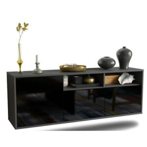 Cordale TV Stand Ebern Designs Colour: High Gloss Black