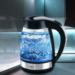 Cordless Illuminated 1.7 L Glass Electric Kettle Symple Stuff