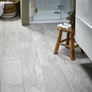 Cotage wood Grey Matt Wood effect Porcelain Floor & wall Tile Sample