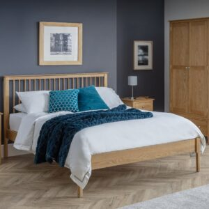Cotswold Oak Wooden Bed Frame Only - 4ft6 Double