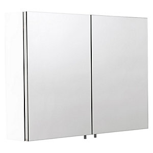 Croydex Dawley Folded White Steel Double Door Cabinet - 800 x 670mm