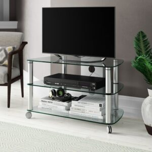 """Cuuba SR 910 TV Stand for TVs up to 50"""" Jahnke Colour: Aluminium"""
