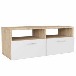 """Dayna TV Stand for TVs up to 42"""" Bloomsbury Market Colour: Oak/White"""
