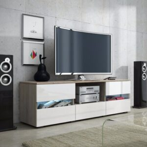 """Decor TV Stand for TVs up to 55"""" Selsey Living Finish: Oak/White Gloss"""