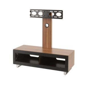 "Demetri TV Stand for TVs up to 50"" Hashtag Home Colour: Walnut"