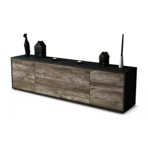 """Devos TV Stand for TVs up to 42"""" Ebern Designs Colour: Driftwood / Matte Anthracite"""