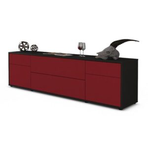 "Devos TV Stand for TVs up to 42"" Ebern Designs Colour: Red / Matte Anthracite"