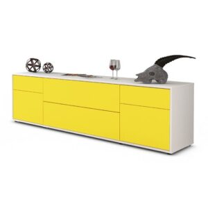 "Devos TV Stand for TVs up to 42"" Ebern Designs Colour: Yellow / Matte White"