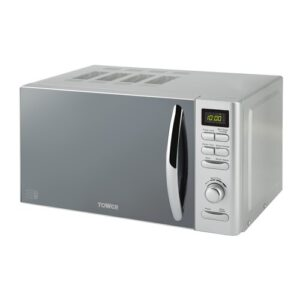 Digital 20 L 800W Countertop Microwave Tower Colour: Silver