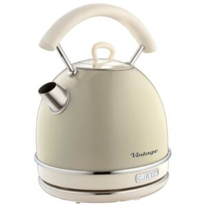 Dome 1.7L Stainless Steel Electric Kettle Ariete Colour: Cream