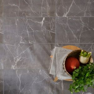 Elegance Silver Gloss Marble effect Porcelain Floor Tile Sample