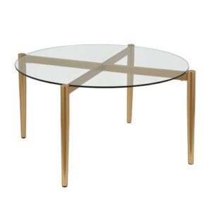 Erin Coffee Table Blue Elephant Table Base Colour: Gold