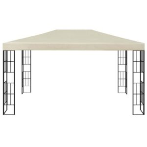Ertan 3m x 4m Steel Patio Gazebo Sol 72 Outdoor Roof Colour: Cream