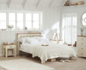 Ex-display Somerset Oak and Cream Double Bed