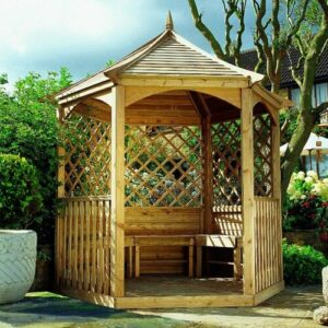 Fantine 2.9m x 2.1m Solid Wood Patio Gazebo Sol 72 Outdoor