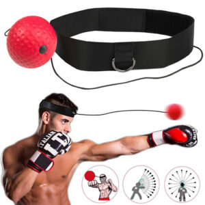 Fight Ball Reflex MMA Boxing Trainer Training Boxer Speed Punch Exercise Head Cap String
