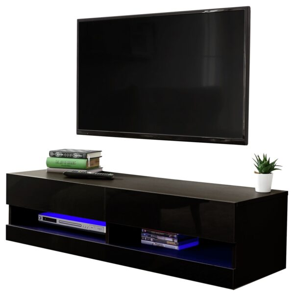 Galicia 120cm LED Wall TV Unit - Black