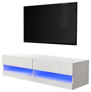 Galicia 120cm LED Wall TV Unit - White