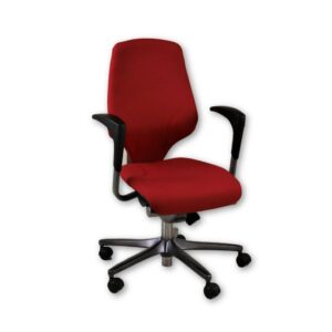 Giroflex G64 Red Task Chair Height Adjustable Arms