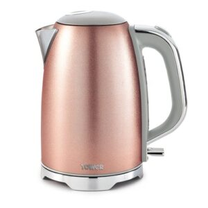 Glitz 1.7L Stainless Steel Electric Kettle Tower Colour: Pink