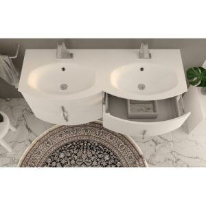"Goris 54"" Single Bathroom Vanity Ebern Designs Base Finish: White Glossy"