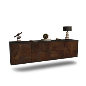 """Gottlieb TV Stand for TVs up to 78"""" Ebern Designs Colour: Black/Rust"""