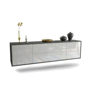 """Gottlieb TV Stand for TVs up to 78"""" Ebern Designs Colour: Black/White"""