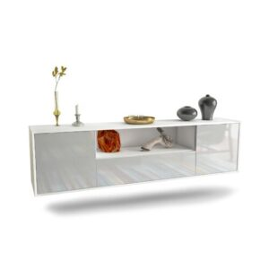 "Gottschalk TV Stand for TVs up to 78"" Ebern Designs Colour: White"