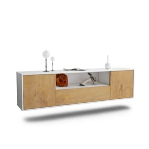 "Gottschalk TV Stand for TVs up to 78"" Ebern Designs Colour: White/Oak"