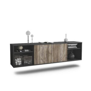 """Govan TV Stand for TVs up to 78"""" Ebern Designs Colour: Black/Driftwood"""