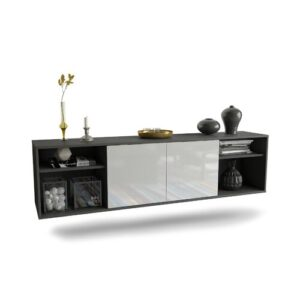"Govan TV Stand for TVs up to 78"" Ebern Designs Colour: Black/White"