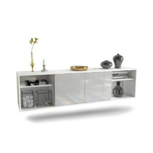 """Govan TV Stand for TVs up to 78"""" Ebern Designs Colour: White"""