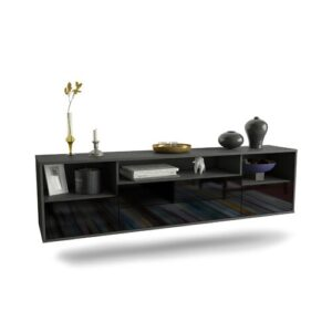 """Gowen TV Stand for TVs up to 78"""" Ebern Designs Colour: Black"""