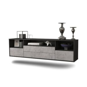 """Gowen TV Stand for TVs up to 78"""" Ebern Designs Colour: Black/Concrete"""