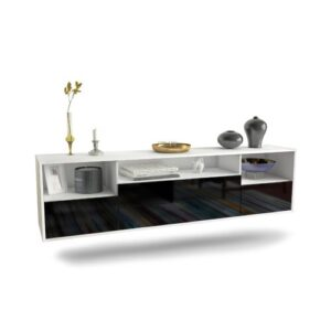 """Gowen TV Stand for TVs up to 78"""" Ebern Designs Colour: White/Black"""