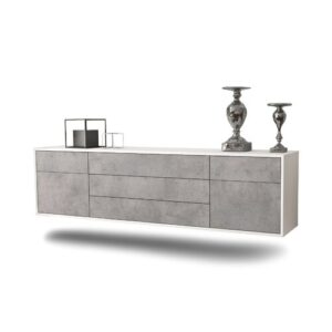 """Gracey TV Stand for TVs up to 78"""" Ebern Designs Colour: White/Concrete"""