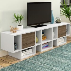 """Hamann Transitional TV Stand for TVs up to 78"""" Ebern Designs"""