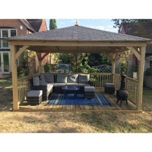 Harwhichport 4m x 3m Solid Wood Patio Gazebo Sol 72 Outdoor