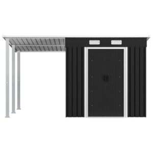 Haydee 11 ft. W x 6 ft. D Metal Garden Shed Sol 72 Outdoor Colour: Anthracite
