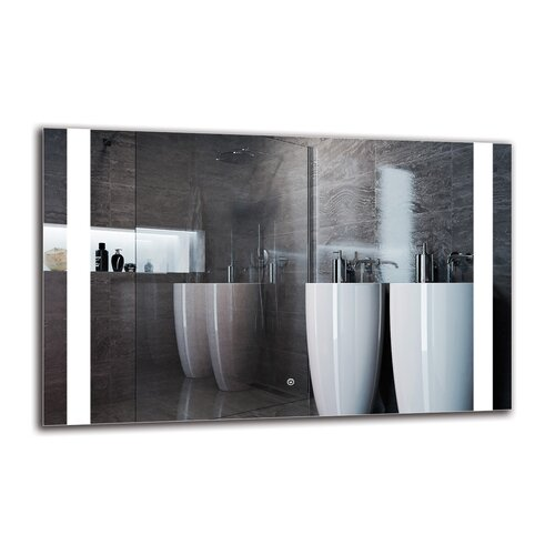 Hemingway Bathroom Mirror Metro Lane Size: 70cm H x 110cm W