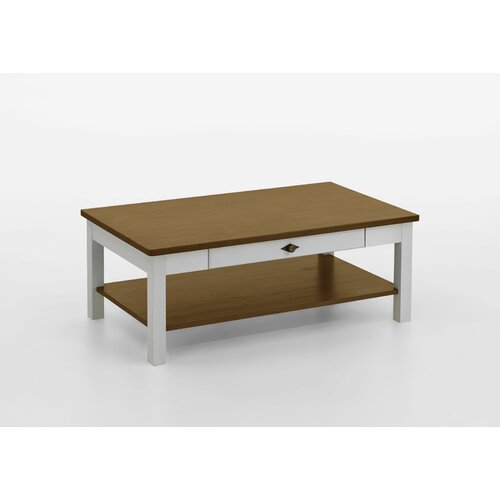 Hojanovice Coffee Table with Storage August Grove Colour: White/Leach-coloured