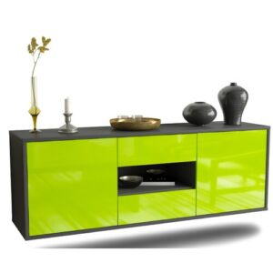 Holbrooke TV Stand Ebern Designs Colour: High Gloss Green