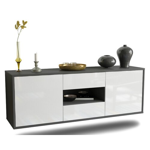 Holbrooke TV Stand Ebern Designs Colour: High Gloss White